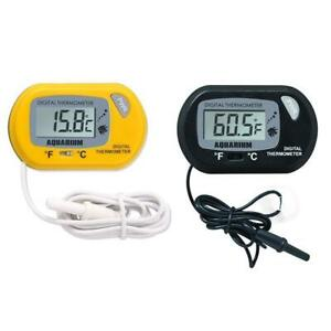 Digital LCD Display Thermometer Aquarium Fish Tank Temperature Water I5G5