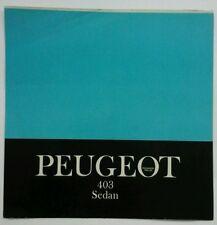 Peugeot 403 Sedan USA Sales Brochure  c.1960