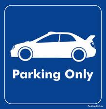 Parking only-Subaru Impreza GD B-E WRX STI-ADESIVI