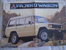 Mitsubishi Pajero Wagon brochure c1990's Australian market