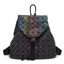 New Women Laser Backpack Geometric Hologram Luminous Backpack Back Bag Schoolbag