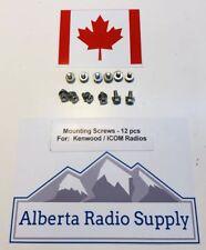 Mounting Screws For Kenwood And ICOM Radios 12 Pcs TK7160 TK7180 IC-F6021