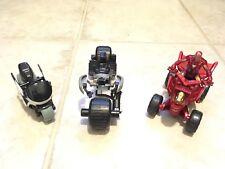 "Batman Iron Man Vehicle Lot 4 Wheeler Motorcycle Batcycle 4""-7.25"" Toys Figure"