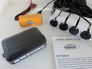 Car Auto 4 Parking Backup Sensors Kit LED Display Reverse Radar Sound System