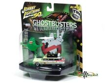 Ghostbusters Cadillac Ecto-1A Ambulance Slimed With Slimer 1:64 Johnny Lightning