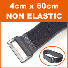 3pcs 4cm x 60cm Hook and Loop Fastener Strap Wrap Tie Fishing Hiking Camping