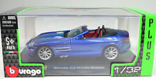 mercedes slr mclaren roadster Bleu Open Scale 1:3 2 by Bburago