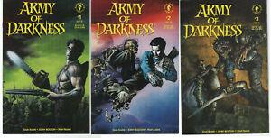Army of Darkness 1-3 Full Set 1992 1st Ash & Evil Dead DARK HORSE COMIC Horror