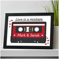 PERSONALISED Music Cassette Gifts for Him Her Boyfriend Husband Girlfriend Wife
