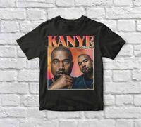Kanye West Cotton Short Sleeve Black Men T-shirt S-4XL K227
