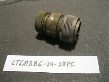 ITT Canon Military 24 Pin Screw Connector CT6MSB6-24-28PC