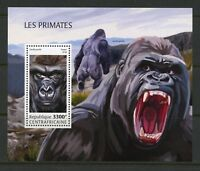 CENTRAL AFRICA 2018  PRIMATES  SOUVENIR SHEET MINT NH