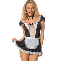 Hot Sexy Women Costume Cosplay French Maid Lingerie Outfit Fancy Dress Halloween