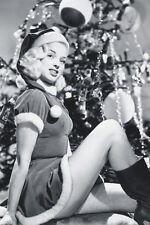 Diana Dors Leggy Pose By Christmas Tree 11x17 Mini Poster