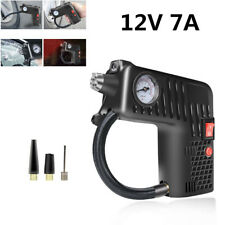12V 7A Car Bike Tire Air Compressor Inflator Inflatable Pump Metal Safety Hammer