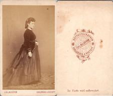 Allgeyer, Carlsruhe, Femme en pose, circa 1865 CDV vintage albumen -  Tirage a