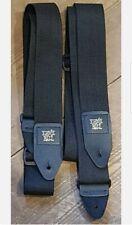 More details for 2 × guitar straps ~ ernie ball adjustable black guitar straps new uk