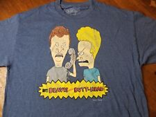 Men's BEAVIS AND BUTT-HEAD Grey Graphic Mike Judge T-Shirt Sz XL