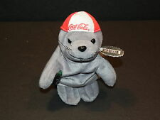 Coca Cola Bean Bag Seal in Baseball Cap #0107 NWT! ~ Great Stocking Stuffer!!