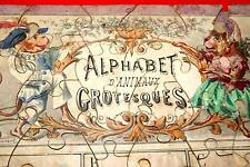 ALPHABET D'ANIMAUX GROTESQUE-PUZZLE-COUDERT-JANIN-1860