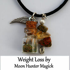 Weight Loss Spell Charm Bottle Necklace© Weight Talisman Amulet Wiccan Witch