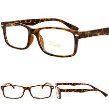 New Classic Vintage Design Fashion Glasses Tortoise Brown Clear Lens Mens Unisex