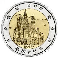 2 EURO Germania 2012 - Castello Neuschwanstein - Zecca casuale