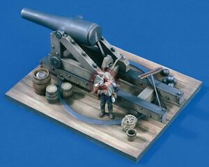 """Verlinden 54mm 1/32 Confederate 10"""" Columbiad Cannon with Figure Civil War 1593"""