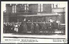 London Postcard - Old Plumstead, First Day of LGOC at Plume of Feathers A2117