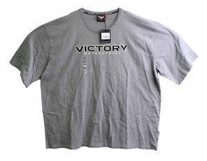 Genuine Victory Motorcycles Gray Marl Logo T-Shirt Size 4XL 286324215