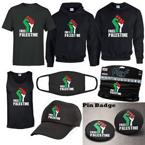 Free Palestine T-shirt Gaza Freedom Protest Humanity Tank Top Morf Pin Badge