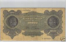 POLOGNE 10 000 MAREK 11.3.1922 N° I 3270954 PICK 32