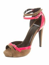 Pierre Hardy Suede Colorblock Dualstrap Sandals Shoes size 36 1/2 US 6.5 UK 3.5
