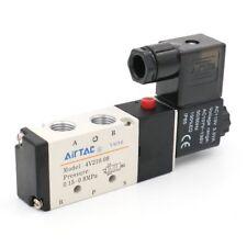 AIRTAC AC110V 4V210-08 Air Valve 5 Port 4 Way 2 Position Solenoid