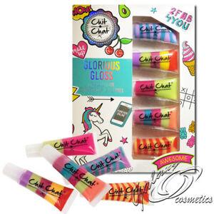 Chit Chat Glorious Lip Gloss Girls Gift Set 5 Rainbow Lipglosses