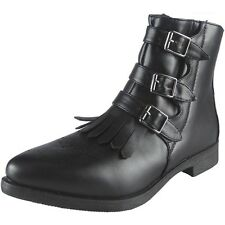 Womens Ladies Faux Leather Elastic Chelsea Chunky Heel Ankle BOOTS Shoes Size UK 7 / EU 40 / US 9 Style No 1