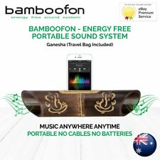 BambooFon - Energy Free Portable Sound System - Ganesha (Travel Bag Included)