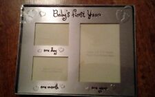 Gift wishes Babys first year photo frame
