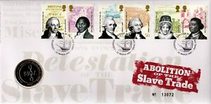 GB 2007 COVER ABOLITION OF THE SLAVE TRADE WITH £2 COIN