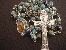 MEDJUGORJE Rosary, Catholic colored rosaries from Medjugorje +Gift holy Card
