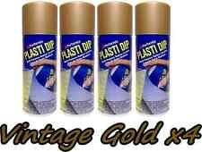 Plasti Dip Metallic Vintage Gold 4 Pack Rubber Coating Spray 11oz Aerosol Cans