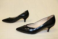 Sesto Meucci Women's Pointed Toe Kitten Heel PumpsTW4 Black Size 7.5M