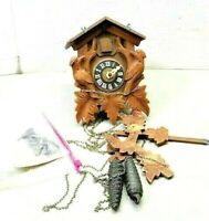 Vintage Wooden Cuckoo Clock ~ TLC for Parts, Repair, Restore, OOAK, Parts Only