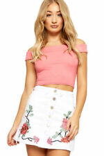 Above Knee Cotton Mini Skirts for Women