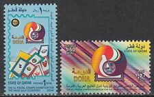 Qatar 1999 ** Mi.1162/63 Briefmarkenausstellung Stamps Exhibition
