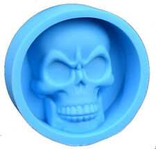 Skull Halloween Silicone Mold for Fondant, Gum Paste, Chocolate, Crafts