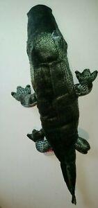 DINKI DI CUDDLES GREEN CROCODILE SOFT ANIMAL PLUSH TOY - 47cms