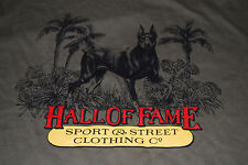 New Hall of Fame Doberman Streetwear Graphic T-shirt (Medium)