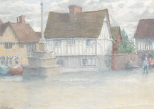 Julie Adams Lavenham Market Place Postcard used VGC