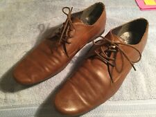 Mens Shoes Soft Leather Tan Lace Up Pointed By Burton Size Uk 10 Used